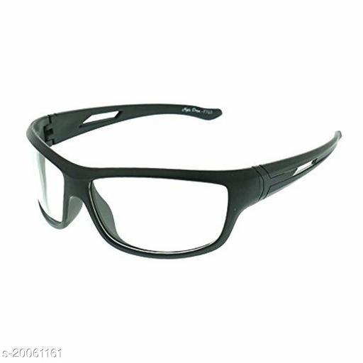 WHITE Unisex UV Protection Wrap Around Night Drive Sunglasses pack of 1