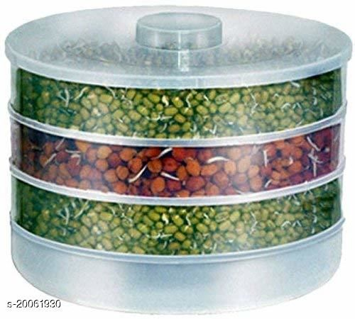 Sprout Maker | Plastic Sprout Maker Box | Hygienic Sprout Maker with 4 Container | Organic Home Making Fresh Sprouts Beans for Living Healthy Life, Sprout Maker for Home A (4 Layer)
