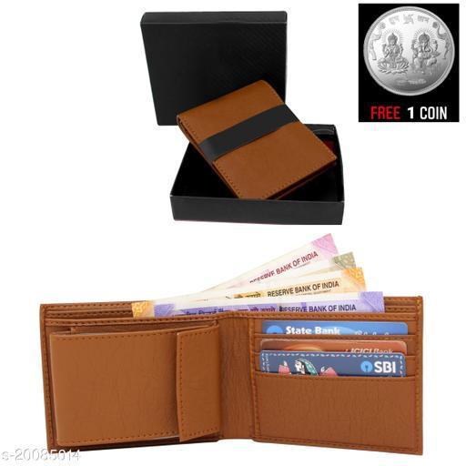 free silver coin with fancy unique Men  Wallet ML-WL-2 ( 1 Piece )