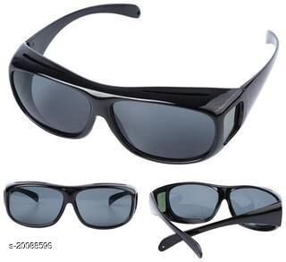 HD Vision Wraparounds sunglasses Black Pack of 1