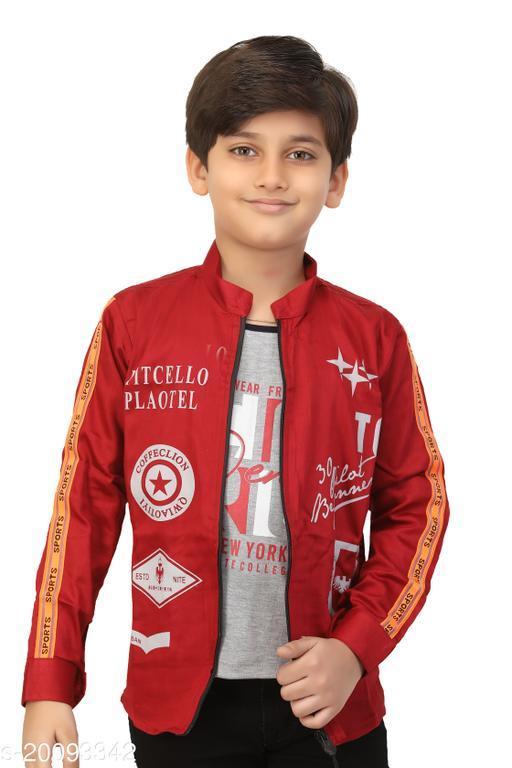 FASHION GRAB BOY'S Jacket With t-shirt