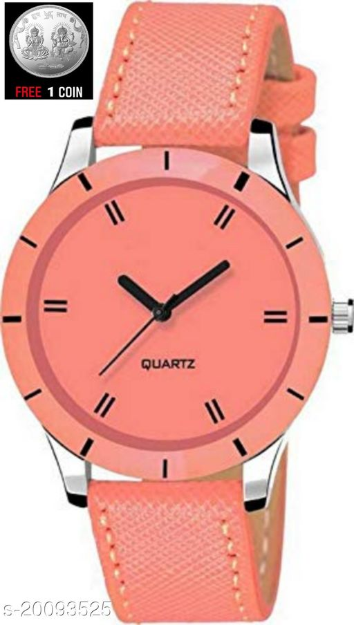 Analog pink Strap Wrist Watch for Girls and Women Watch :- ( 1 PC )