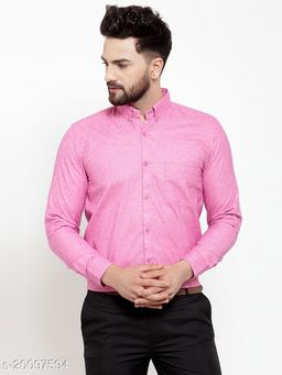 Jainish Men's Cotton Button Down Formal Shirt's