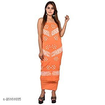 AZAD DYEING Women's Girls Traditional Bandhni Tie & Dye Rajasthani Jaipuri Print in Cotton Fabric, Handwork Suit set (unstiched Fabric) with Duppata