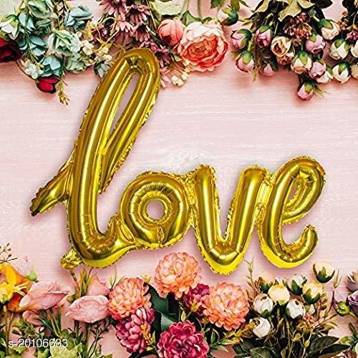 "Style Secrets Stylish "" LOVE "" Golden Foil Balloon Pack"