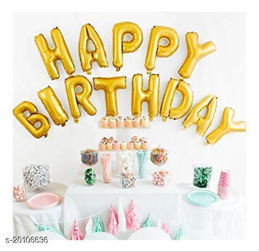 "Style Secrets Metallic Gold ""Happy Birthday"" Foil Balloons Pack"