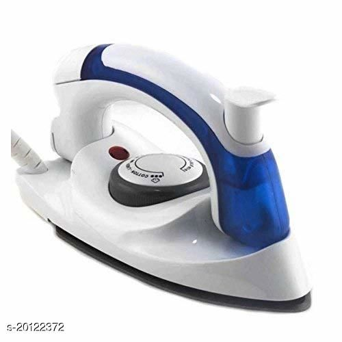 Travel Iron Portable Powerful Variable Temperature Mini Electrical Steam Iron with Foldable Handle, Compact & Lightweight (White)