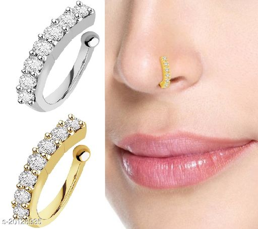 clip on nose ring combo