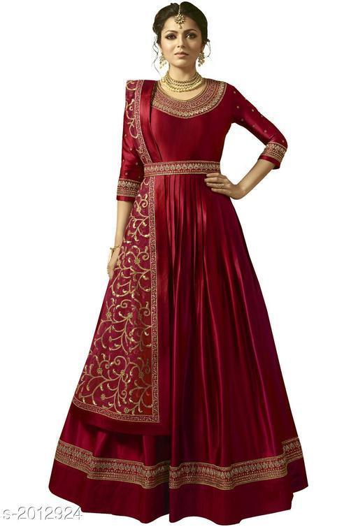 Stylish Embroidered Anarkali Salwar Suit & Dress Material