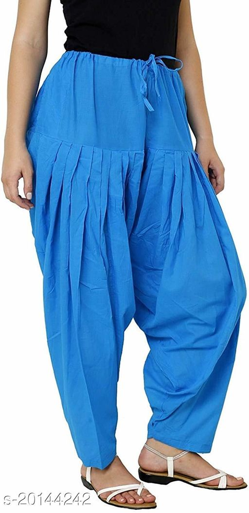 Style Pitara beautiful Patiala Salwar for Girls & Women of Size 28 to 36 & Free Size of Sky Blue Color