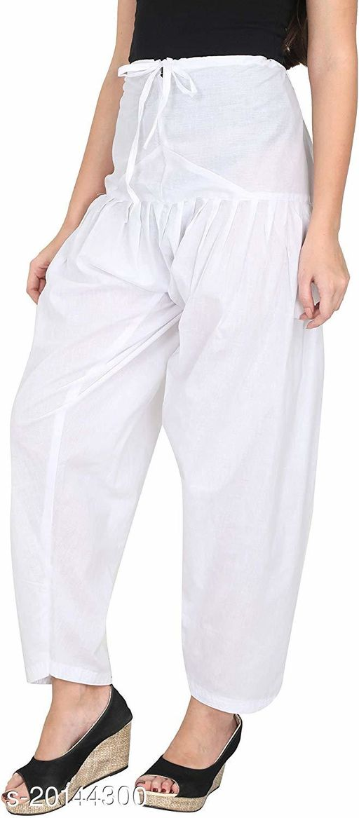 Style Pitara beautiful Patiala Salwar for Girls & Women of Size 28 to 36 & Free Size of White Color