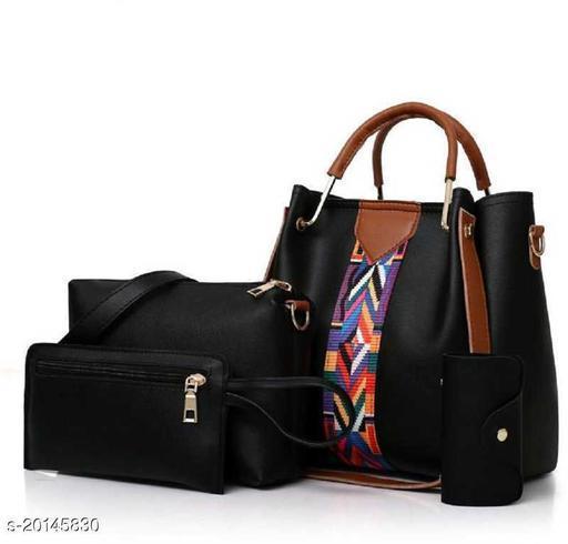 Ethnic Women's Multipack Black Handbag