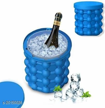 Silicone Ice Cube Maker Bucket for Whiskey, Wine, Beer, Home, Party and Picnic-D