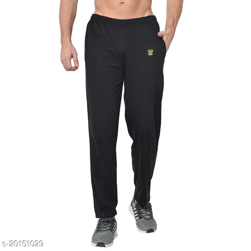 VIMAL JONNEY Solid Men Black Track Pants ()