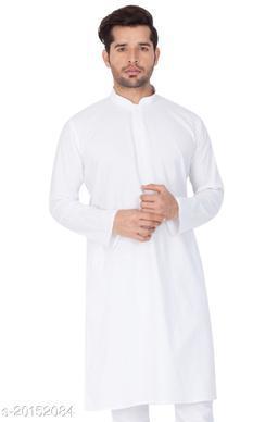 Vastramay Holi Special  Men's White Cotton Kurta  Men's White Cotton Kurta