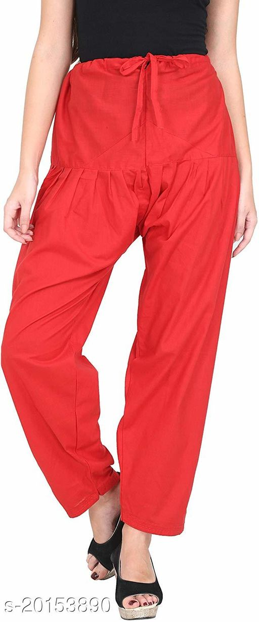 Style Pitara beautiful Patiala Salwar for Girls & Women of Size 28 to 36 & Free Size of Red Color
