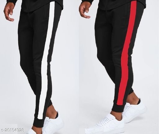 JOGGERS PARK Black/W And Black/R RUNNING TRACK PANTS