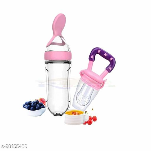Tiny Tycoonz Combo of Baby Bottle/Spoon Feeder/Silicone bottle with Spoon and Baby Pacifier/Feeder/Nibbler