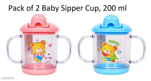 Tiny Tycoonz Combo of Baby Sipper with Handle (200 ml)
