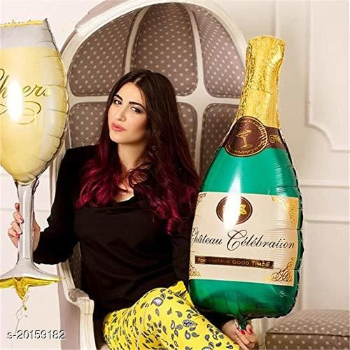 Style Secrets Champagne Bottle and Glass Combo Pack of Parties and Entertainment [ Pack of 2 Pcs ]