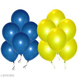 Style Secrets Combo of Metallic Blue and Yellow Balloons for Parties [ Pack of 50 Pcs ]