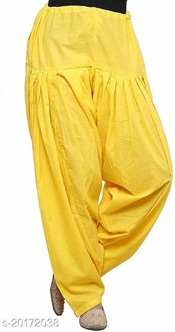 Lets Shine beautiful Patiala Salwar for Girls & Women of Size 28 to 36 & Free Size of Yellow Color
