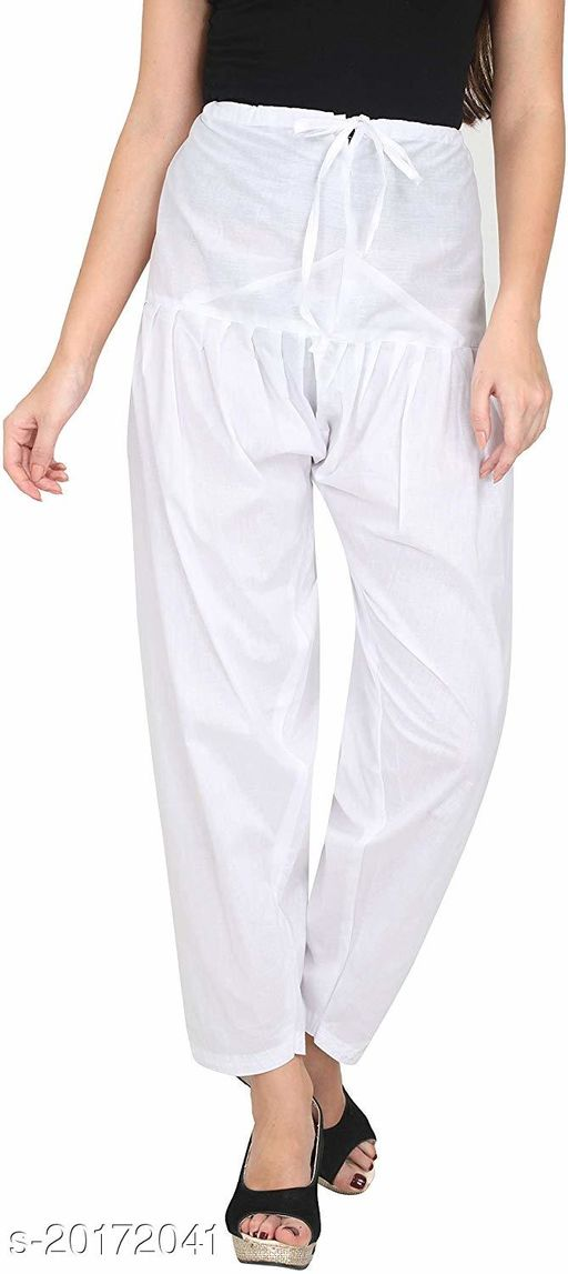 Lets Shine beautiful Patiala Salwar for Girls & Women of Size 28 to 36 & Free Size of White Color
