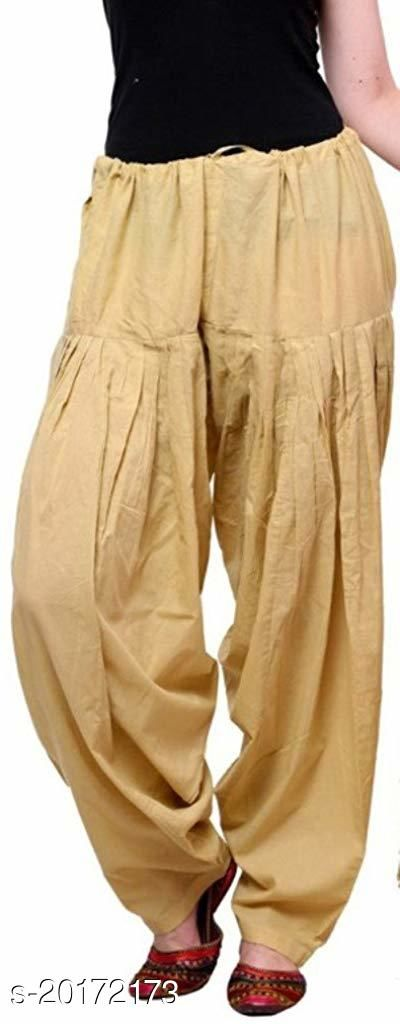Lets Shine beautiful Patiala Salwar for Girls & Women of Size 28 to 36 & Free Size of Beige Color