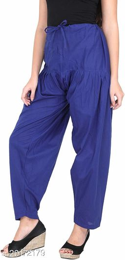 Lets Shine beautiful Patiala Salwar for Girls & Women of Size 28 to 36 & Free Size of Blue Color