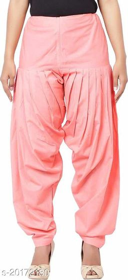 Lets Shine beautiful Patiala Salwar for Girls & Women of Size 28 to 36 & Free Size of Baby Pink Color