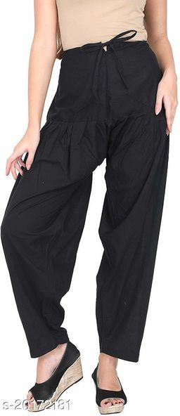 Lets Shine beautiful Patiala Salwar for Girls & Women of Size 28 to 36 & Free Size of Black Color