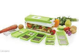 12 in 1 Multi-Purpose Vegetable & Fruit Grater, Slicer, Cutter, Vegetable & Fruit Chopper (1 Chopper Set)