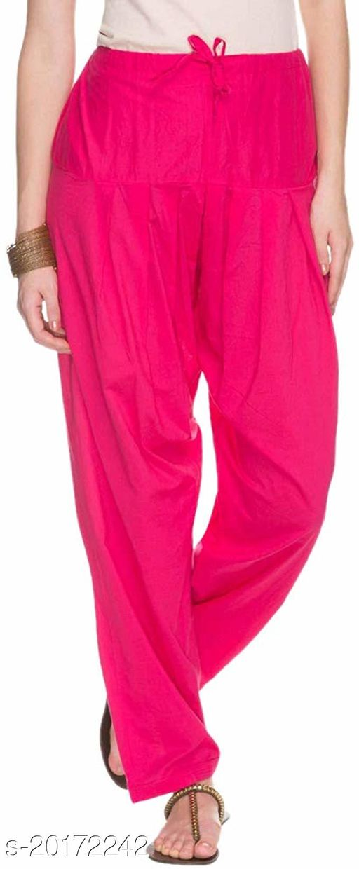 Lets Shine beautiful Patiala Salwar for Girls & Women of Size 28 to 36 & Free Size of Pink Color