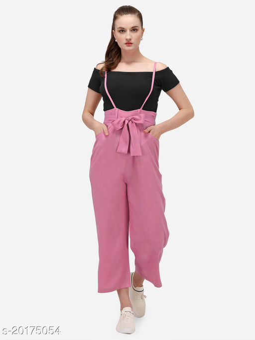 Yuvraah Women's Dungaree with T shirt