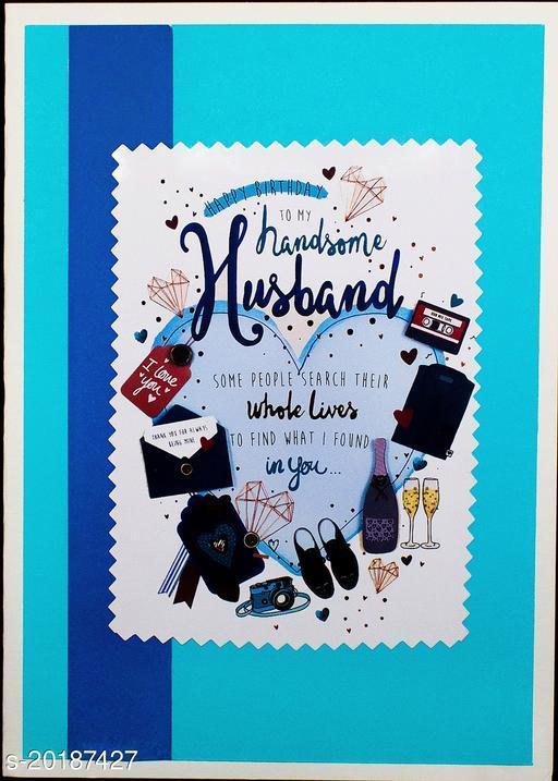 AanyaCentric Husband Birthday Handmade Greeting Card
