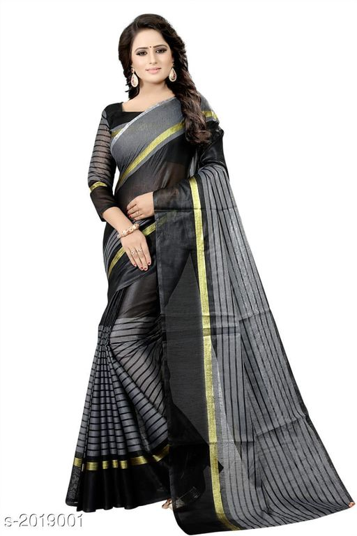 Premium Chanderi Poly Cotton Saree