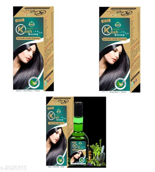 Hair Care Ayurvedic Hair Care Oil & Shampoo Combo ( Pack Of 3 )  *Product Name* Useful Hair Care Ayurvedic Hair Care Oil & Shampoo Combo  *Product Type* Shampoo & Hair Oil  *Capacity* 120 ml Each  *Description* It Has 2 Pack Of Hair Care Herbal Shampoo & 1 Pack Of Hair Care Oil  *Sizes Available* Free Size This product has very limited stock. Order fast! *    Catalog Name: Ayurvedic Hair Care Oil & Shampoo Combo Vol 1 CatalogID_267172 C50-SC1249 Code: 113-2020510-