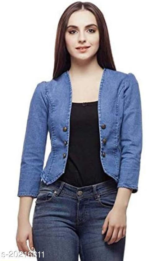 Lee Martin Denim Women Shrug/Jacket for Girls