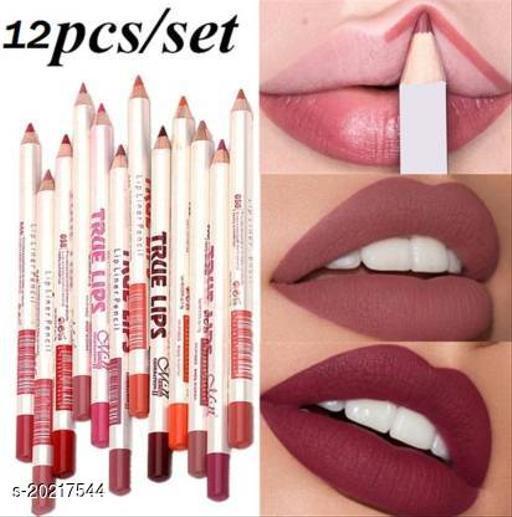 SHILLS True Lips Set of 12 Creamy Lip Liner Pencils (Multicolor)(Multicolor)
