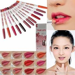 Shills True Lips water proof Lip Liner Pencil(Pack Of-12)  (Multicolour)