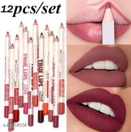 SHILLS True Lips Set of 12 Creamy Lip Liner Pencils (Multicolor)  (Multicolor)