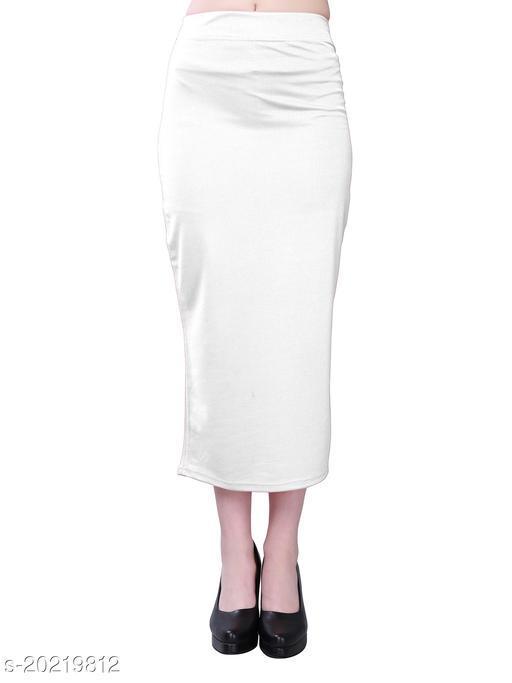 Lycra SlipOn White Saree Shapewear