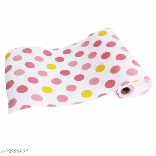 Anti Slip Kitchen Cupboard Liners Mat Roll Drawer Liner Table (45 x 125 cm, Multicolour, Random Design Available)