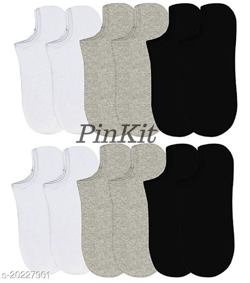 PinKit Anti-Slip Unisex Cotton Invisible No Show Loafer Socks with Silicon Grip (Pack of 12 Pairs) (Colour-Multi)