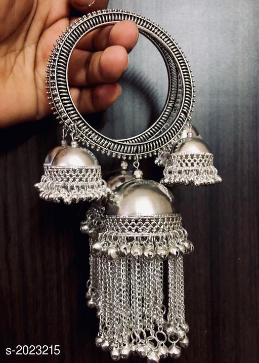 Elegant Oxidized Metal Bangle