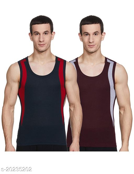 Dixcy Scott Men's Trendy Fashion Gym Vest body Fit Solid innerwear (Pack of 2)