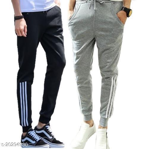 Joggers Park Black And Grey Running stylish joggers