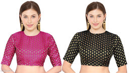 Banarsi Silk Elbow length Woman blouse