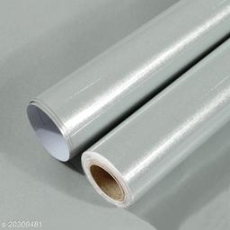 Oren Empower Glossy Solid Grey Classics Waterproof Wallpaper (60X500cm)