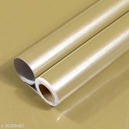 Oren Empower Glossy Solid Golden Classics Waterproof Wallpaper (60X500cm)